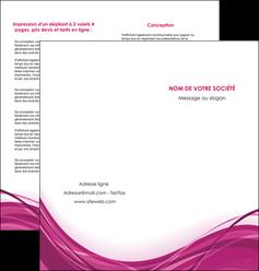 impression depliant 2 volets  4 pages  violet fond violet mauve MIF74737