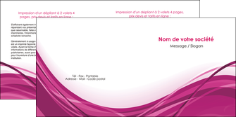 modele en ligne depliant 2 volets  4 pages  violet fond violet mauve MIF74739