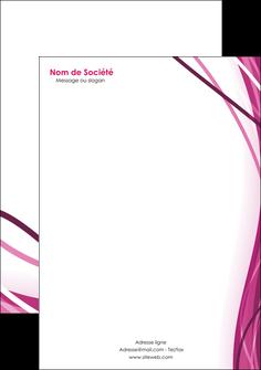 maquette en ligne a personnaliser tete de lettre violet fond violet mauve MIF74741