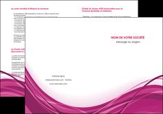 modele en ligne depliant 2 volets  4 pages  violet fond violet mauve MIF74749