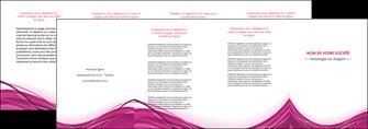 maquette en ligne a personnaliser depliant 4 volets  8 pages  violet fond violet mauve MIF74751
