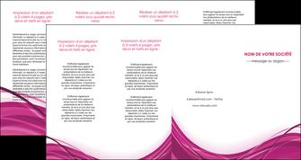 personnaliser modele de depliant 4 volets  8 pages  violet fond violet mauve MIF74755