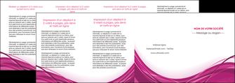 impression depliant 4 volets  8 pages  violet fond violet mauve MIF74757