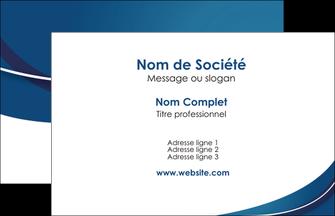 Creation Graphique En Ligne Carte De Visite Web Design Bleu Fond Courbes MLGI74815