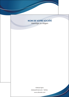 cree flyers web design bleu fond bleu courbes MLGI74817