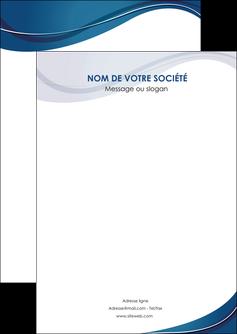 realiser flyers web design bleu fond bleu courbes MLGI74819