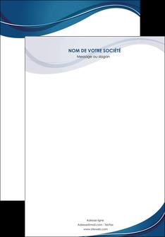faire modele a imprimer affiche web design bleu fond bleu courbes MLGI74821