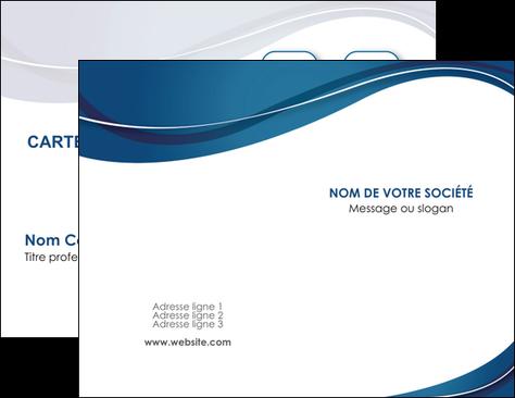 Impression Carte De Visite Web Design Bleu Fond Courbes MLGI74825