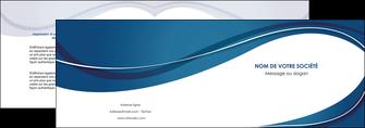exemple depliant 2 volets  4 pages  web design bleu fond bleu courbes MLGI74831