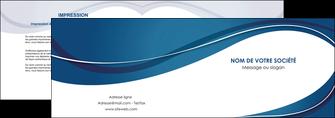 realiser depliant 2 volets  4 pages  web design bleu fond bleu courbes MLGI74833
