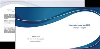modele en ligne depliant 2 volets  4 pages  web design bleu fond bleu courbes MLIG74845