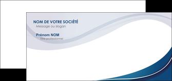 personnaliser maquette carte de correspondance web design bleu fond bleu courbes MLGI74853