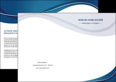 personnaliser modele de depliant 2 volets  4 pages  web design bleu fond bleu courbes MLGI74855