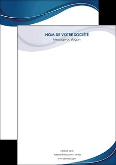 impression affiche web design bleu fond bleu courbes MLGI74857