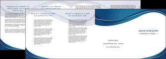 faire depliant 4 volets  8 pages  web design bleu fond bleu courbes MLGI74859