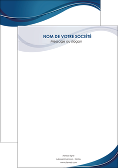personnaliser maquette flyers web design bleu fond bleu courbes MLGI74861
