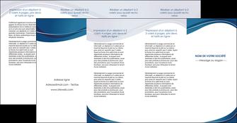 cree depliant 4 volets  8 pages  web design bleu fond bleu courbes MLGI74863