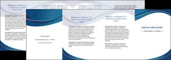 personnaliser maquette depliant 4 volets  8 pages  web design bleu fond bleu courbes MLGI74865