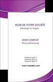 faire modele a imprimer carte de visite web design violet fond violet couleur MLGI75257