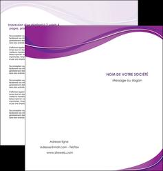 impression depliant 2 volets  4 pages  web design violet fond violet couleur MLIG75275