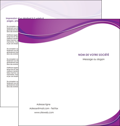 impression depliant 2 volets  4 pages  web design violet fond violet couleur MLGI75275