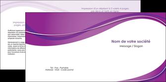 impression depliant 2 volets  4 pages  web design violet fond violet couleur MLIG75277