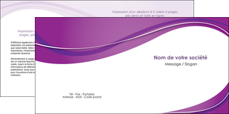 impression depliant 2 volets  4 pages  web design violet fond violet couleur MLGI75277