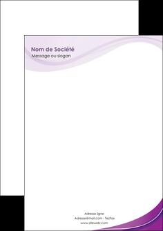 personnaliser maquette tete de lettre web design violet fond violet couleur MLIG75279
