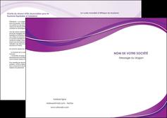 personnaliser modele de depliant 2 volets  4 pages  web design violet fond violet couleur MLIG75287