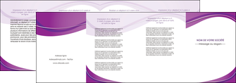 exemple depliant 4 volets  8 pages  web design violet fond violet couleur MLGI75289