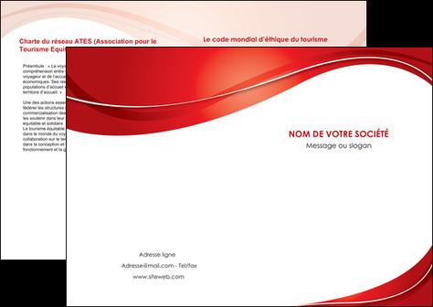 exemple depliant 2 volets  4 pages  web design texture contexture structure MIF75305