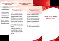 modele depliant 3 volets  6 pages  web design texture contexture structure MIF75325