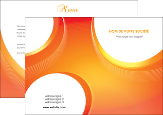 creer modele en ligne set de table web design orange fond orange colore MIF75601