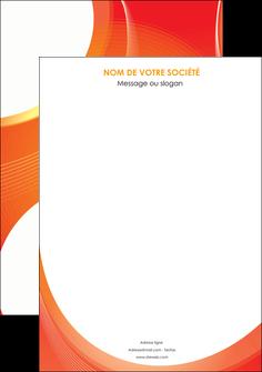 maquette en ligne a personnaliser affiche web design orange fond orange colore MIF75603