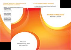 personnaliser maquette depliant 2 volets  4 pages  web design orange fond orange colore MIF75607