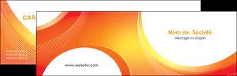 faire modele a imprimer carte de visite web design orange fond orange colore MIF75609