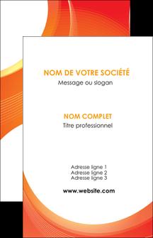 imprimerie carte de visite web design orange fond orange colore MIF75611