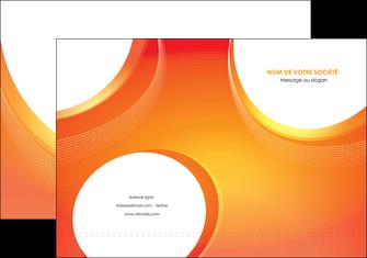 imprimer pochette a rabat web design orange fond orange colore MIF75613