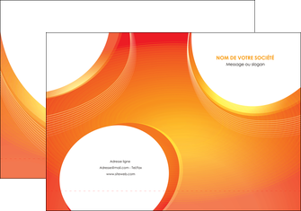 creer modele en ligne pochette a rabat web design orange fond orange colore MIF75615