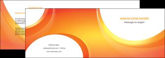 exemple depliant 2 volets  4 pages  web design orange fond orange colore MIF75617