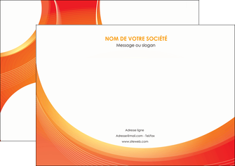 personnaliser modele de affiche web design orange fond orange colore MIF75619