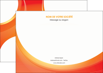 modele en ligne affiche web design orange fond orange colore MIF75621
