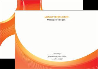 maquette en ligne a personnaliser affiche web design orange fond orange colore MIF75625