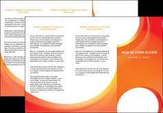 modele en ligne depliant 3 volets  6 pages  web design orange fond orange colore MLIGBE75627