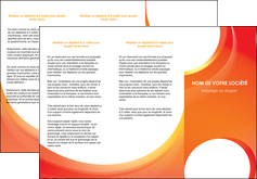 modele en ligne depliant 3 volets  6 pages  web design orange fond orange colore MIF75627