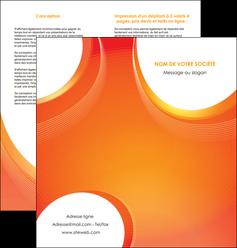 maquette en ligne a personnaliser depliant 2 volets  4 pages  web design orange fond orange colore MLIGBE75629