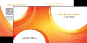 modele depliant 2 volets  4 pages  web design orange fond orange colore MIF75631