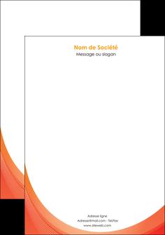 personnaliser modele de tete de lettre web design orange fond orange colore MIF75633