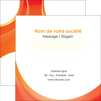 exemple flyers web design orange fond orange colore MIF75635