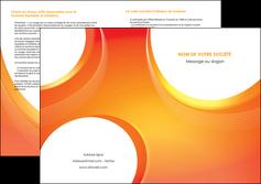 imprimerie depliant 2 volets  4 pages  web design orange fond orange colore MIF75641
